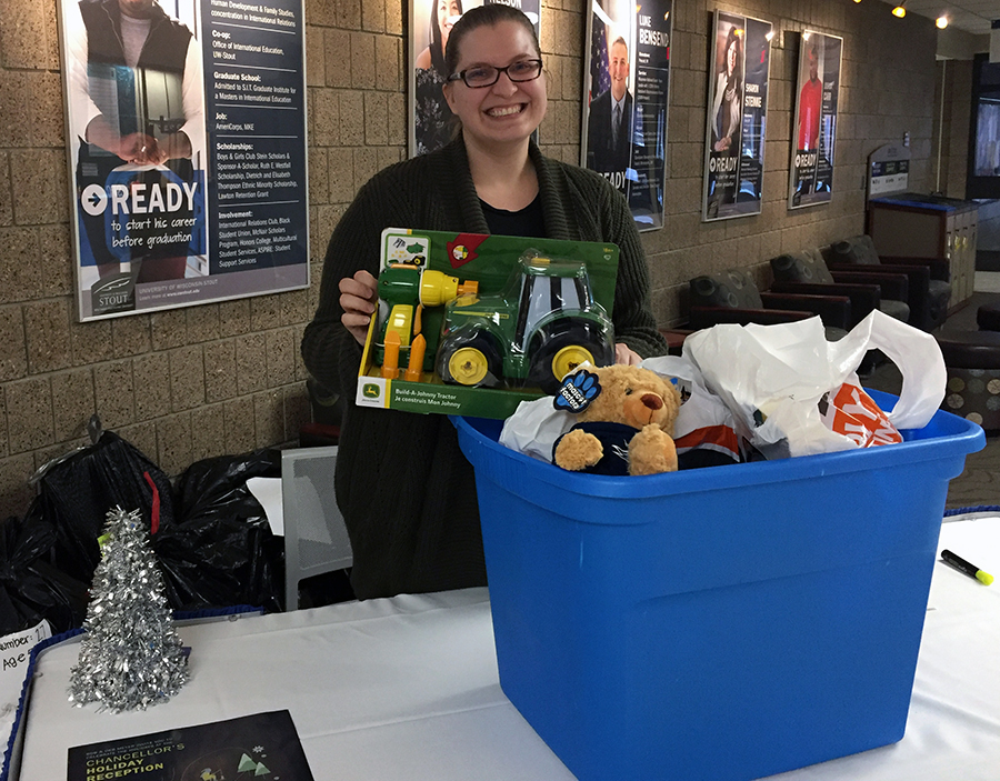 Jessica Jurgella, civic engagement and Greek life coordinator with the campus Involvement Center, said faculty, staff and students sponsored more children this year with Christmas Miracle.