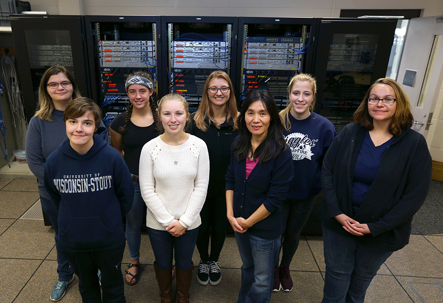 New women students have helped boost enrollment in the computer networking and information technology major at UW-Stout.