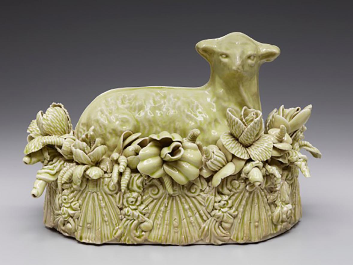 UW-Stout Professor Kate Maury's butter dish was featured in an exhibit at Navy Pier in Chicago.