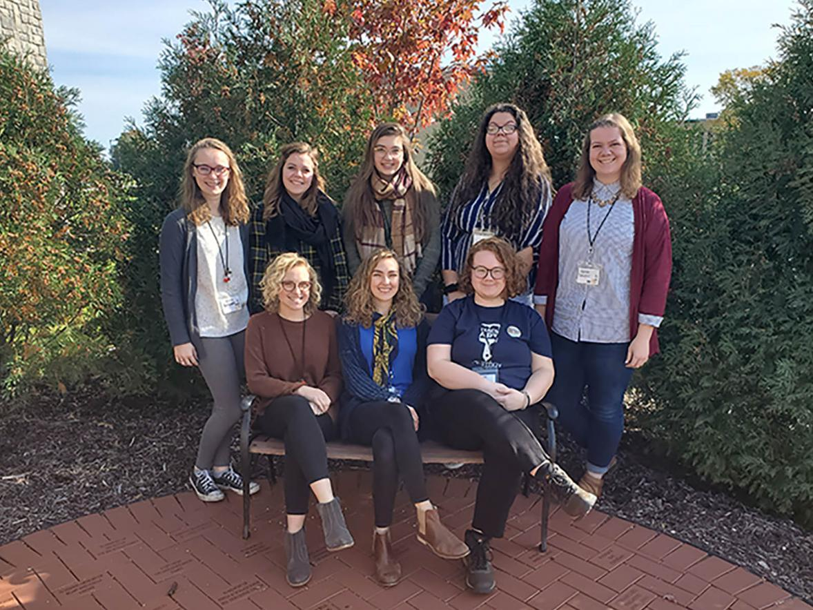 UW-Stout Art Education students at the Wisconsin Art Educators Association Conference, Manitowoc, WI, October 2019.
