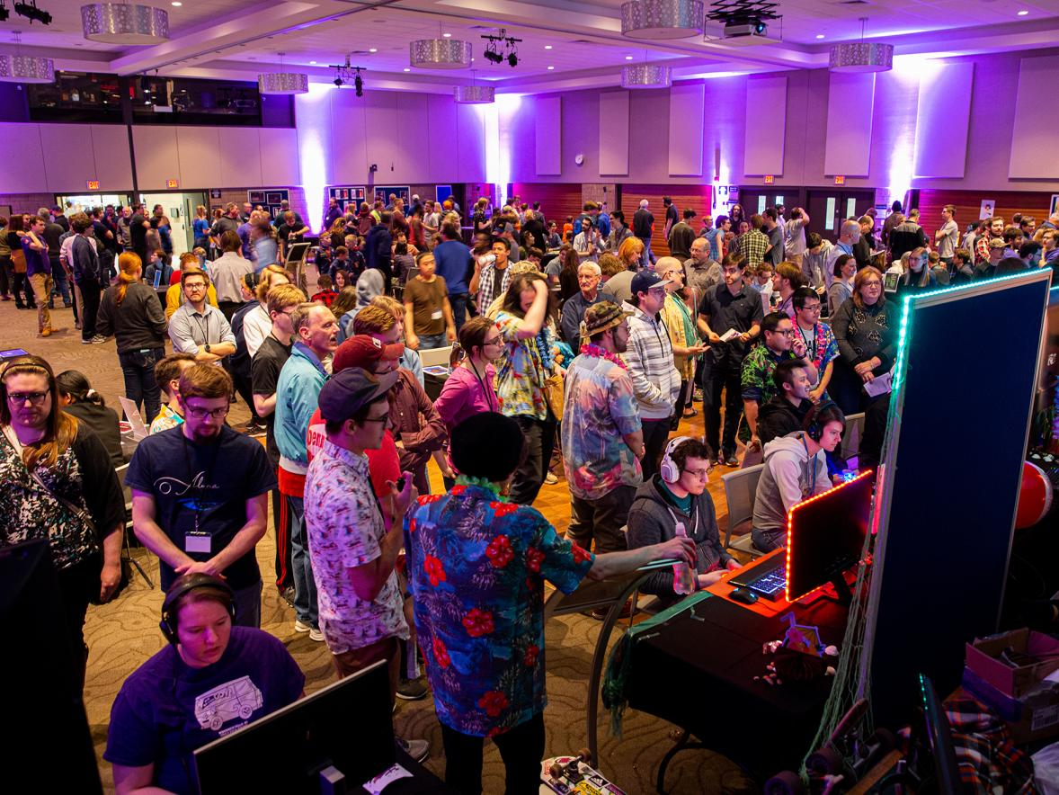 The Stout Game Expo in May drew a large crowd.
